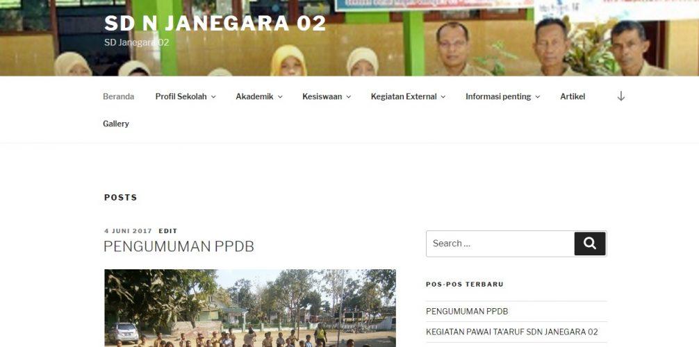 Website Sekolah - SD N Janegara 02