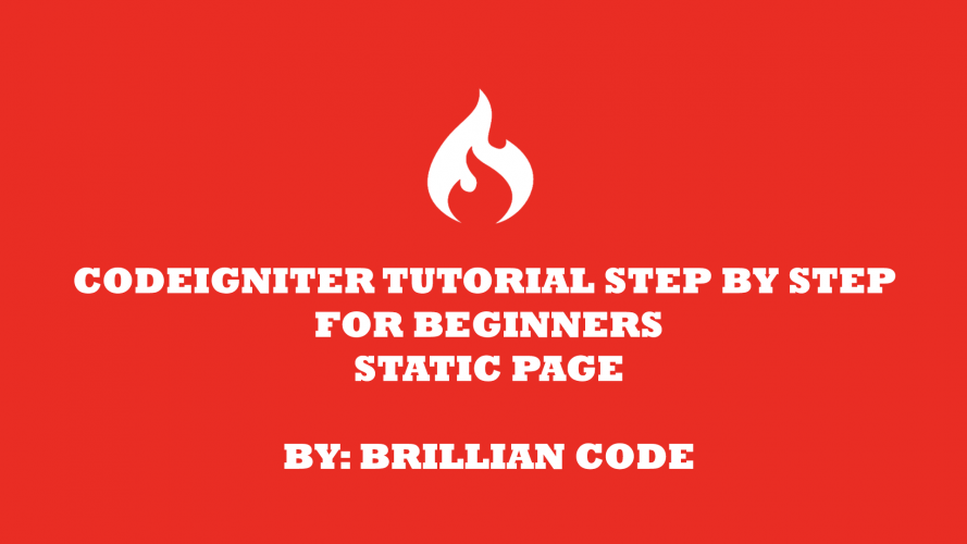 tutorial codeigniter 3 cara membuat static page